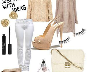 fashion, gold, and outfit image