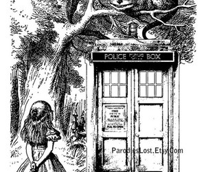 doctor who, tardis, and alice image