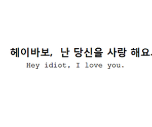 idiot, love, and hangul image