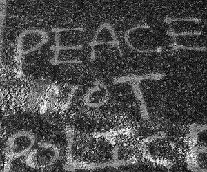 black, graffiti, and peace image