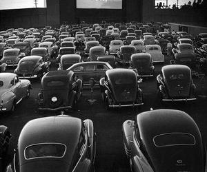 black and white, old, and cars image