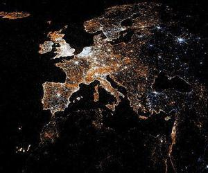 europe, lights, and europe lights image