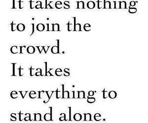 quotes, alone, and crowd image