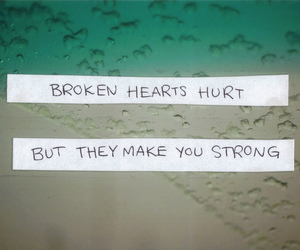 strong, broken, and hurt image