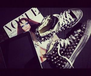 fashion, vogue, and converse image