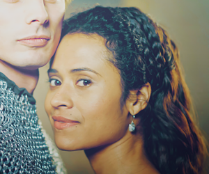 guinevere, merlin, and Queen image