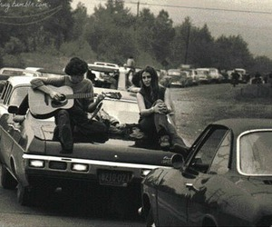 car, guitar, and boy image