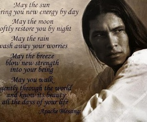 quotes, Apache, and blessing image