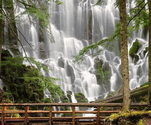waterfall, nature, and photography image