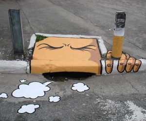 art, street, and smoke image