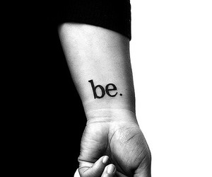 be and tattoo image