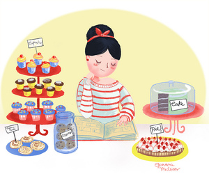 cupcake, candy, and girl image