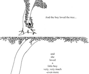 boy, text, and tree image