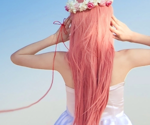 boquet, colored hair, and diy image