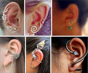 earrings, love, and fashion image
