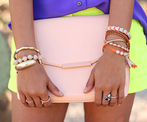 arm candy, chic, and clutch image