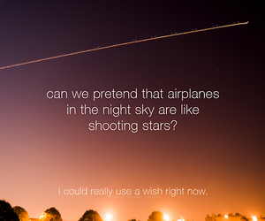 airplane, stars, and text image