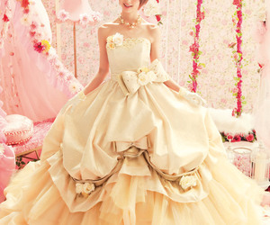 fashion, wedding dress, and glamorous image