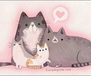 cats, heart, and everydaycute image