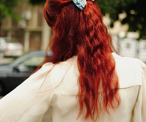 pretty, redhair, and romantic image