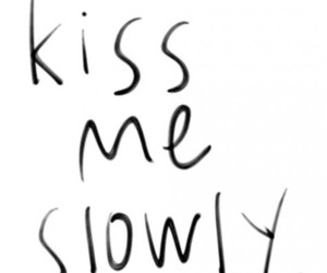 kiss, love, and slowly image
