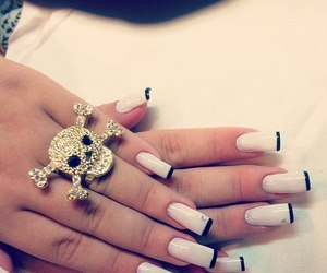 nails, skull, and ring image