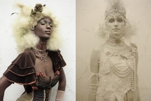 beautiful, choker, and corset image
