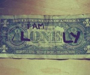 money and lonely image