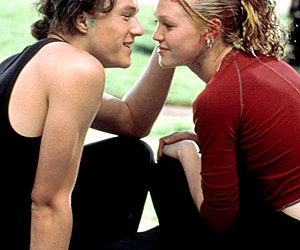 heath ledger, 10 things i hate about you, and movie image