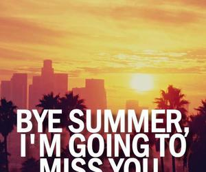 summer, miss, and bye image