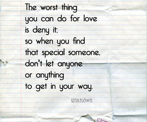 denial, love, and inspiration image