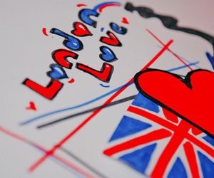 artwork, flag, and heart image