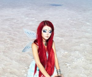 girl, fairy, and red hair image