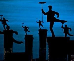 black, chimney, and dance image