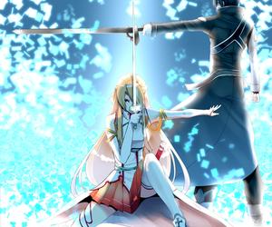 sao, sword art online, and kirito image
