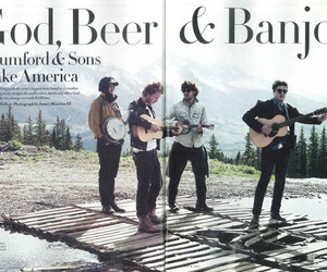 mumford and sons, banjo, and beer image