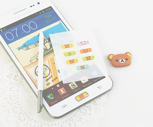 iphone, kawaii, and rilakkuma image