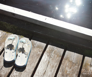 lake, shoes, and summer image