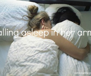 bed, lesbian, and love image