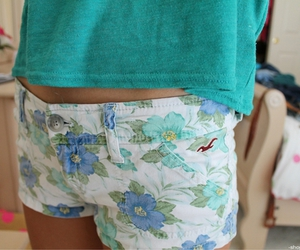 shorts, blue, and hollister image