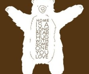 bear, home, and hug image