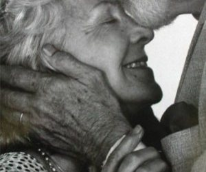 couple, elderly, and kiss image