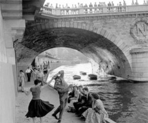 black and white, dance, and 50s image