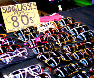 sunglasses, 80s, and glasses image