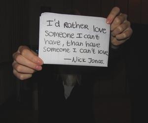 nick jonas, love, and quote image