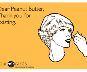 funny, peanut butter, and food image