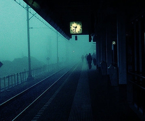 fog, photography, and clock image