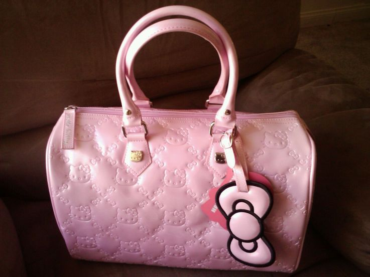 Hello Kitty Pastel Pink Embossed Bag By Loungefly Junkies