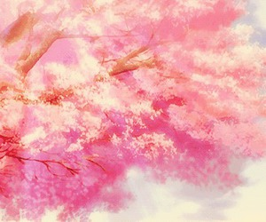 pink, anime, and blossom image