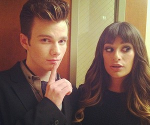 glee and lea michele image